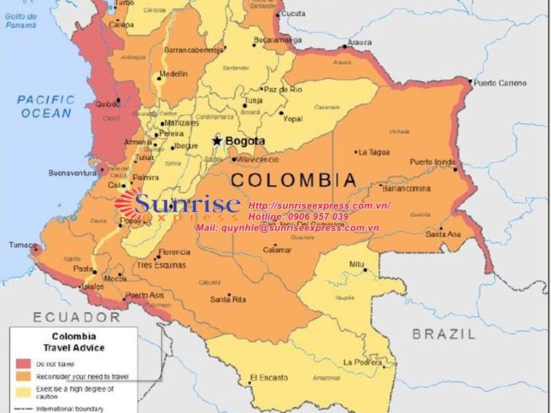 Dịch vụ gửi hàng đi Colombia giá rẻ nhất tại TpHCM
