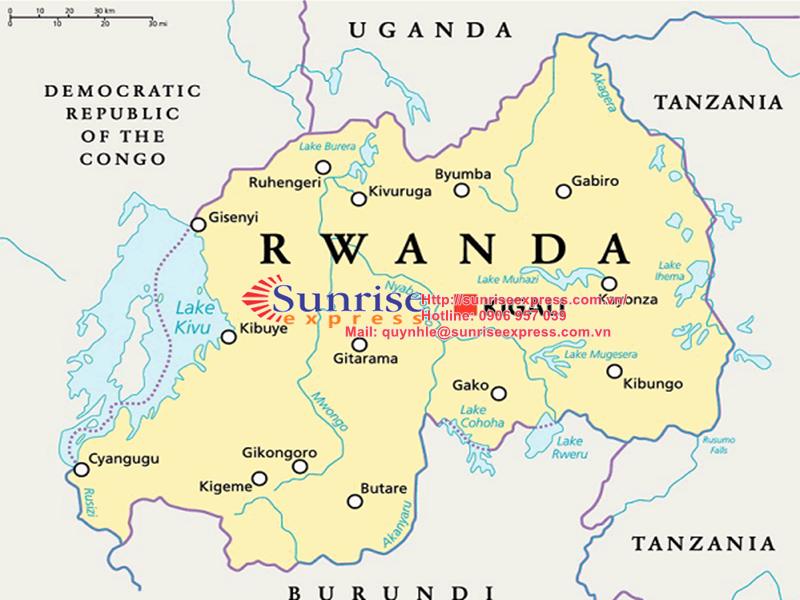 Dịch vụ gửi hàng đi Rwanda giá rẻ nhất tại TpHCM